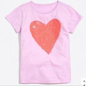 Crewcuts Girls Sequin heart in Graphic t-shirt